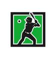 modern sport baseball logo vector image vector image