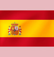 national flag spain beautiful vector image vector image