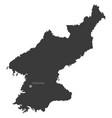 north korea with capital city pyongyang vector image