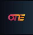 one logo logotype vector image vector image