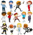 People with different occupations vector image