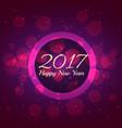 purple bokeh background for new year 2017 season vector image vector image