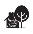 real estate home icon home sweet home outline vector image