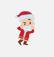 santa claus something sick and dizzy vector image vector image