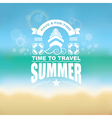 Sea vacation Marine abstract background vector image