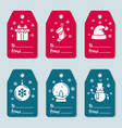 set design tag templates with christmas vector image