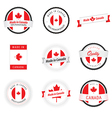 set made in canada labels badges and stickers vector image