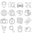 set of icons in the style of lines a compass vector image vector image