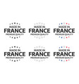 set six french icons made in france symbols vector image