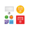 Soccer goal icon vector image vector image