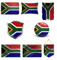 south african flag a grunge vector image vector image
