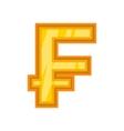 Swiss frank icon cartoon style vector image vector image