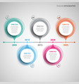 time line info graphic with abstract round design vector image vector image