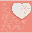 Vintage card roses bouquet romantic quotes vector image vector image