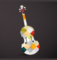 violin abstract musical instrument music symbol vector image