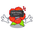 virtual reality hambiscus flower in the character vector image