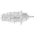 women entrepreneurs text word cloud concept vector image vector image