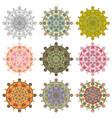 set mandala different color 43 vector image