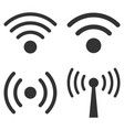 wi-fi signal flat icon set vector image