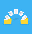 files transfer copy files data exchange backup vector image