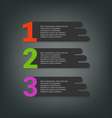 Steps design for business info-graphics vector image