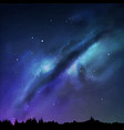 a milky way night sky eps vector image