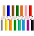 a set of pencils vector image