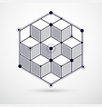 abstract geometric black and white background vector image