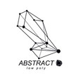 abstract geometric form 3d shape communication vector image