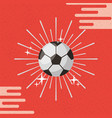 ball sport soccer sunburst color background vector image
