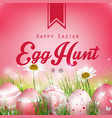 beautiful easter red background vector image vector image