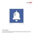 bell icon - blue photo frame vector image vector image