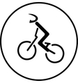 Bicycle racer stick sign vector image vector image