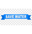 blue tape with save water text vector image vector image