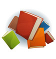 books stack flying vector image