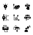 brand work icon set simple style vector image