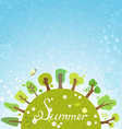 Bright summer background vector image vector image