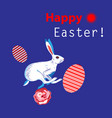 Bright unusual greeting card for happy easter with