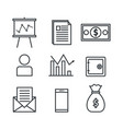 business and finance set icons vector image
