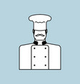 chef icon cuisinier sign chief-cooker symbol vector image vector image