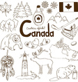Collection of Canada icons vector image vector image