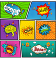 Comic speech bubbles background divided by lines v vector image