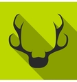 Deer horns icon flat style vector image