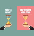 do not waste your time vector image vector image