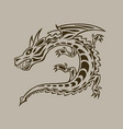 dragon ink hand drawn vector image