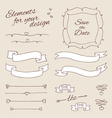 drawing elements for design wedding vector image vector image
