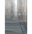 drawn background of a city street between the vector image vector image