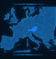 europe abstract map austria vector image vector image