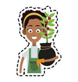 farmer cartoon icon imag vector image vector image