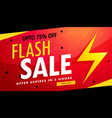 flash sale advertising banner for discount and vector image